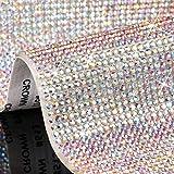 24516 Pieces Bling Rhinestone Crystal Sheet Crystal Self-Adhesive Sticker 9.4 x 20 Inch DIY Car Decoration Sheet for Car Decor Cellphone Craft Decoration Supplies (AB Color)