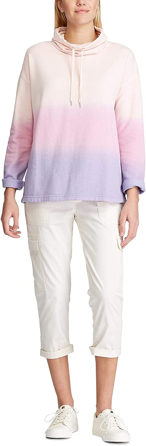 Chaps Women's French Terry Cowl Mock Neck Pullover Sweater