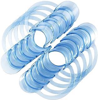 Healifty 30ピース歯科口オープナー口リップオープナーC字型チークリトラクターゲームとウォッチ屋の口のために - L(ブルー)