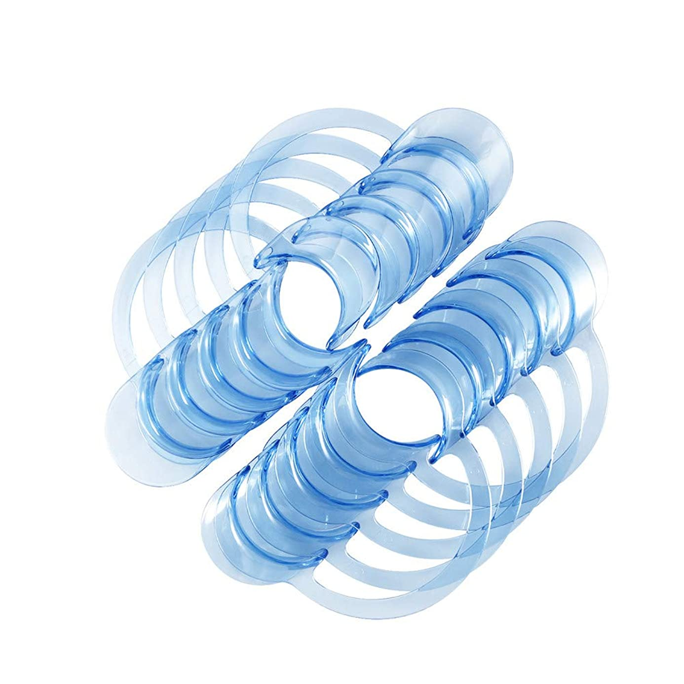 アノイ緯度ピストンSUPVOX 30個入りC字型歯科口オープナーマウスガードチャレンジゲームまたは歯科用ホワイト - L(ブルー)
