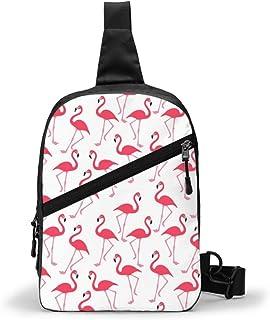 Paquete completo de pecho flamenco multipropósito Crossbody al aire libre bolsa de hombro mochila mochila de gran capacidad casual deporte mochila para senderismo viaje deporte