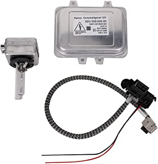 5DV 009 000-00 Xenon Hid Headlight Ballast Control Unit with Igniter and D1S Bulb for 2007-2014 Cadillac Escalade & 2006-2009 BMW E60 & 2008-2014 Chrysler Town Country