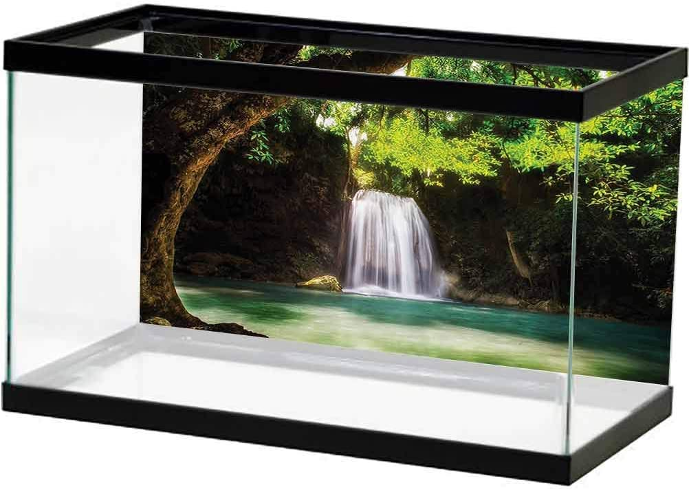 free ScottDecor Natural Waterfall Decor Collection PVC Backg Aquarium Popular overseas