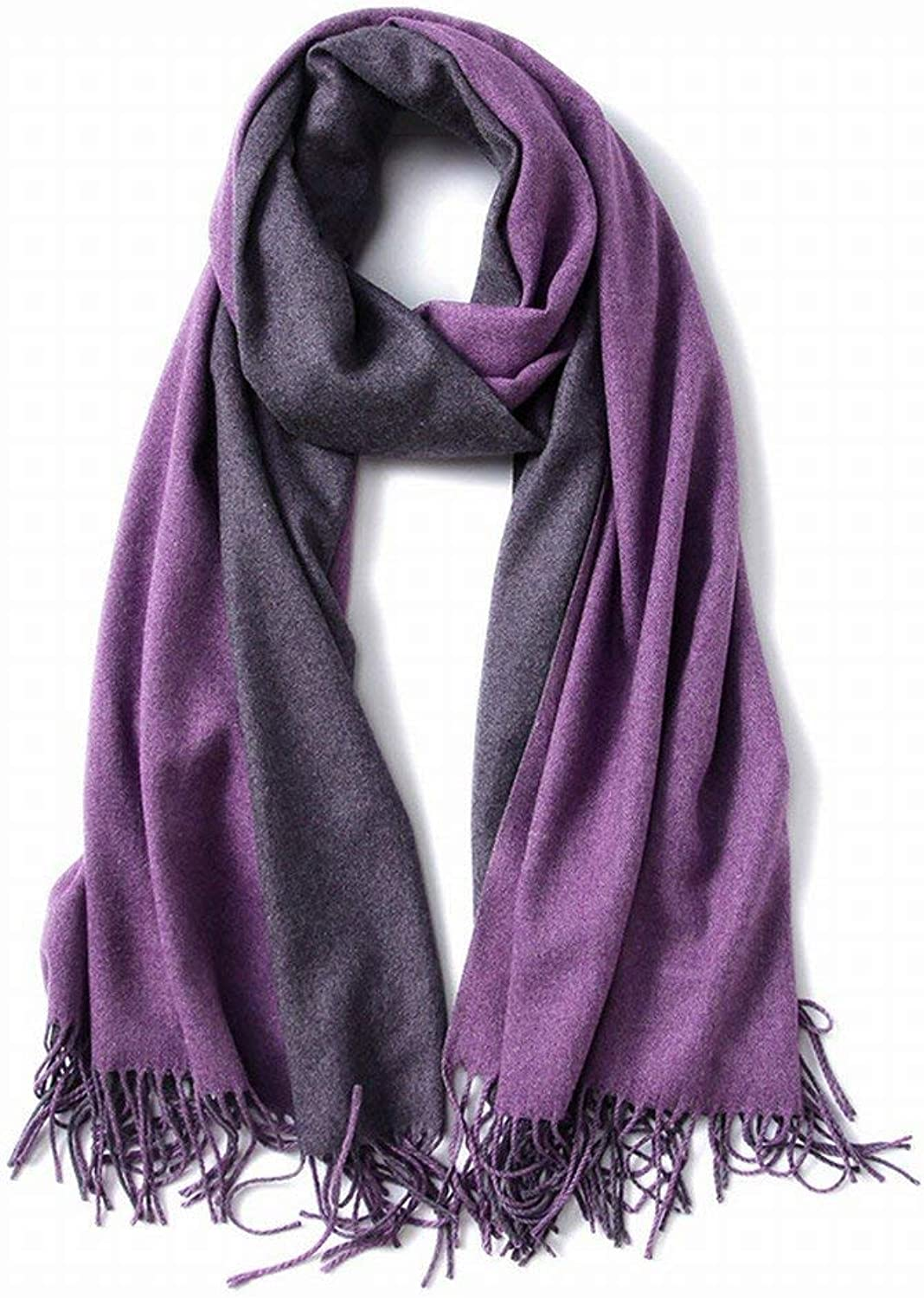 Dequanrong Autumn d Winter Scarves Western Wind Double Sided Pure Gift Warm Warm Shawl Fashion Scarf for Women