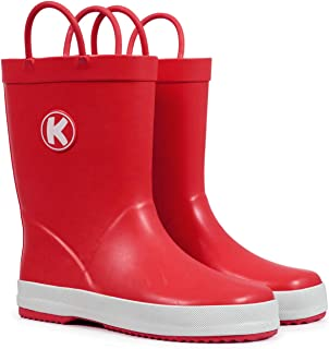 ShoFort Kids Rain Boots Girls Boys Toddler Rainboots Rubber Rain Shoes Animal Printed
