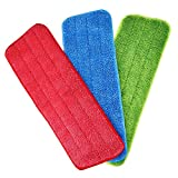 Reveal Mop - Set di 3 panni per pulire tutti i mossini spray e Reveal mop, lavabile per la casa, 16,5 x 15,5 cm