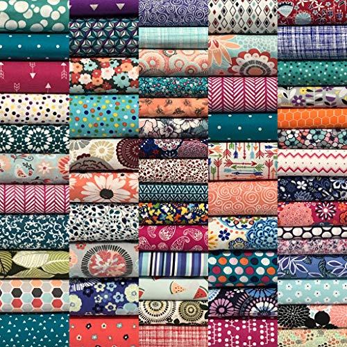 "Quilting Fabric Squares 8.5"" x 8.5"" (21.6cm x 21.6cm) Pre-Cut Cotton Cloth Sewing Craft Bundle Scrapbooking Olde Trunk Treasures (25)"