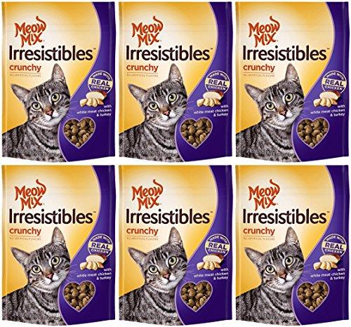 Meow Mix Irresistibles Cat Treats - Crunchy - Chicken - Net Wt. 2.5 OZ (71 g) Each - Pack of 6