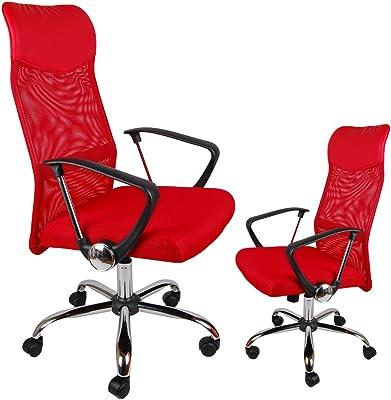 Ergonómico BSX – Respaldo alto silla de oficina de malla, – Silla gaming para ordenador