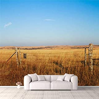 Modern 3D PVC Design Removable Wallpaper for Bedroom Living Room Prairie Blessing Wallpaper Stick and Peel Wall Stickers H...