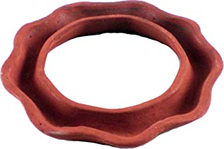 Cultural Exchange New Age Terracotta Scented Oil Burner Light Ring [Pack of 2 - Tan - 3.5