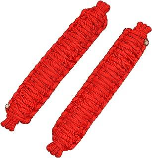 Door Limiting Straps for Jeep Wrangler CJ YJ TJ JK JKU JL Door Limiter Paracord Hand Woven Red(2pcs)