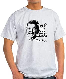 CafePress Ronald Reagan Quote Trust But Cotton T-Shirt