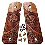 1911 Grips Full Size by Dan Eagle Exotic Solid Rosewood Eagle Design Fits Government, Commander