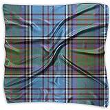 Uridy Lady Ideal Gift - Bufanda de seda Mujer Satén cuadrado Pañuelo en el cuello Cuello Bufanda Moda Tartán escocés Cuadros Azul Grande Ligero Pañuelo suave