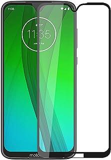 Henxunton Motorola Moto G7, Moto G7 Plus 15,7 tum skärmskydd, [Svart-1 Pack] [Full täckning] 9H hårdhet skyddande härdat g...