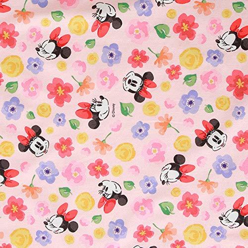 Tela de algodón con diseño de Schreiner de Disney de The Yard, 110 cm de ancho SG Romantic Minnie rosa