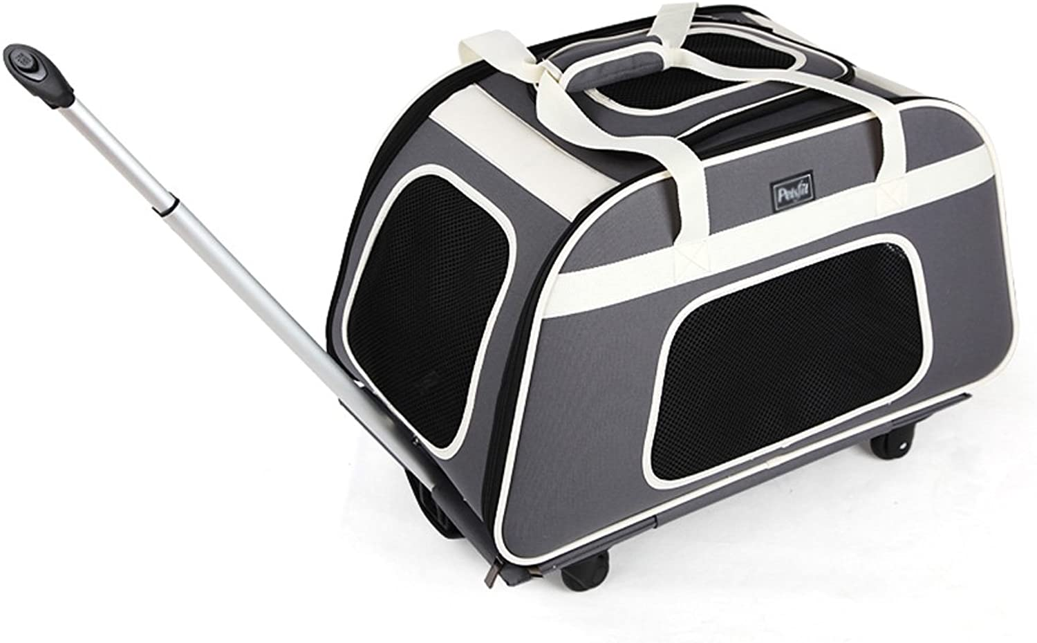 NAUY Pet Trolley Bag Dogs Go Out Carrying Bag Dog and Cat Pack Car Cage Cat Pet Package Maximum Load Capacity 14kg(L66W37H30cm)