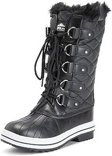 POLAR Womens Snow Boots Black Size: 9