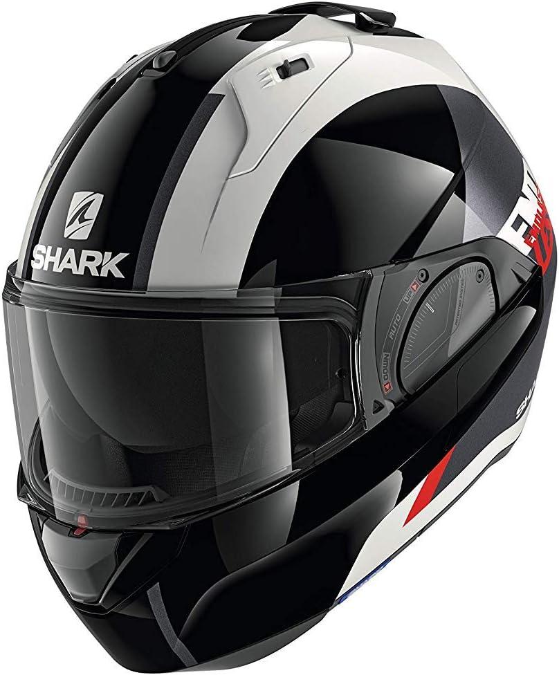 SHARK Herren NC Motorrad Helm S Schwarz//Weiss//Rot