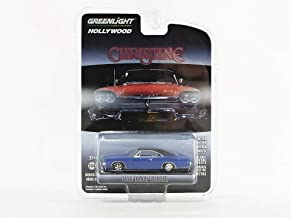 Greenlight 1968 Dodge Charger Dark Blue with Black Top Christine (1983) Movie Hollywood Series 22 1/64 Diecast Model Car 44820 E