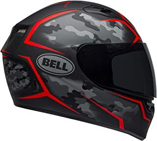 Bell Qualifier Full-Face Motorcycle Helmet (Stealth Camo Matte Black/Red, Large)