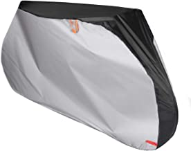 Color Rain Time Bike Cover for Outdoor Bicycle Storage - XL -Waterproof & Anti-UV - Protection from All Weather Conditions for Mountain & Road Bikes (Black+Silver, XL)