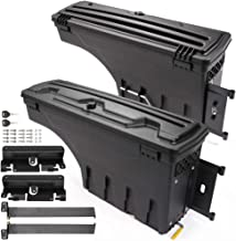 HaoTang Set of Black Driver and Passenger Side Lockable Truck Bed Storage Boxes for Chevrolet Silverado GMC Sierra 1500 2500 HD 3500 HD 07-18 Rear Wheel Well Tool Box