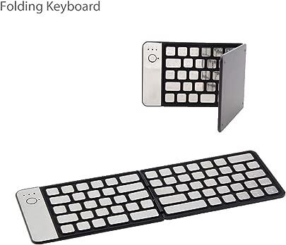 Faltbare Tastatur kabellose tragbare Tastatur Taschengr e ultrad nn Premium-Leder-Klapptastatur kompatibel f r Laptop iOS Windows Android Smartphone Tablet Schätzpreis : 34,48 €