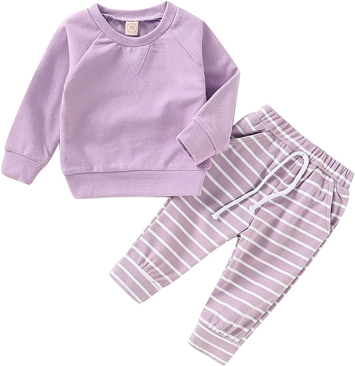 Happy Town Newborn Baby Girls' Clothing Boy Long Sleeve Top and Long Pants Set Baby Girl Sweat Outfits