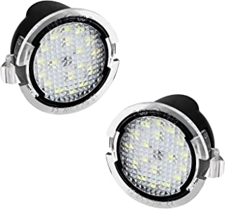 2Pcs LED Side Mirror Light Puddle Lamp Assembly Replacement for Ford F150 Explorer Edge Expedition Flex Fusion Taurus X Limit, 6000k White