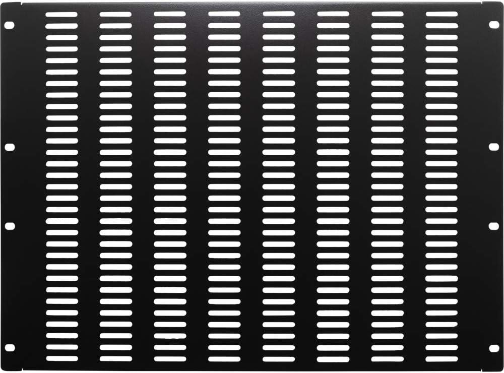 NavePoint 8U Blanking Panel, Slotted, Flanged, 19 inch Wide Network Server Rack or Server Cabinet, Filler Panel, Steel, Hardware Included