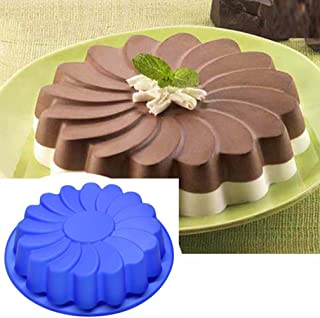 Jareally Silicone Large Flower Cake Mould Chocolate Soap Candy Jelly Mold Baking Pan (1 -