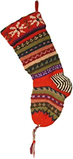 striped wool christmas stockings