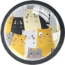 AITAI Set van 4 deurknop decoratieve handgreep kat schattige elegante toevoeging voor kast lade dressoir slaapkamer
