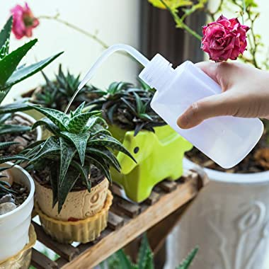 Oubest Squeeze Washing Bottle Succulent Watering Bottle 500ml Water Squirt Irrigation Bottle Squeeze Sprinkling Can Plastic W
