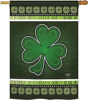 Breeze Decor - Shamrock Spring - Seasonal St Patrick Impressions Decorative Vertical House Flag 28