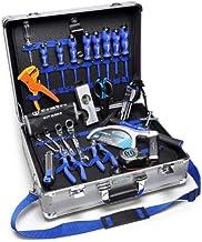 cembre kit-val-gpta-2 kit de Maletín de Aluminio de cuencos con llave Universal + 9 Destornilladores + tijeras Profesional + Nivel + pinza