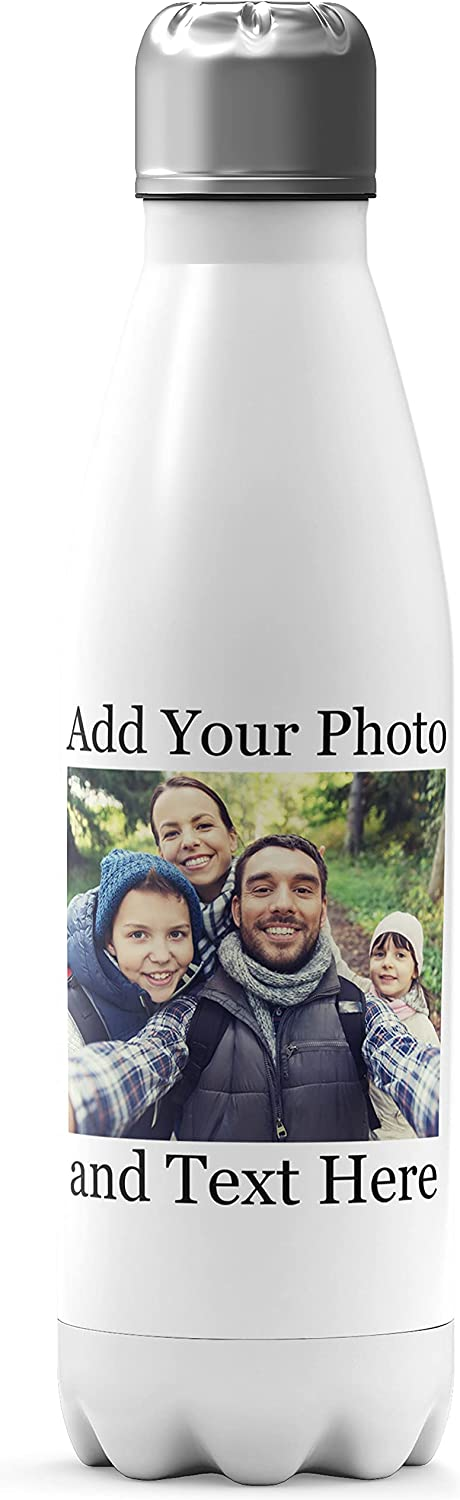 Personalized Water Bottle - Add Your Monogram Text Max 69% OFF Mail order cheap Logo Photo