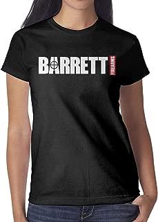 Solo Womens New-Barrett-Classic-Firearms-Gun-Short Rock T-Shirt Concert