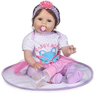 "Reborn Baby Doll, 100% Handmade Full Soft Silicone 22"" /55cm Lifelike Newborn Doll for Children Xmas Gift-RB156"