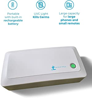 UV Box Sanitizer Phone Portable with Built in Battery | Kills up to 99.9% of Bacteria & Viruses in 180 Seconds at The DNA Level | Chemical Free Sterilizer for Toys, Phone, Glasses, Watches, Tools