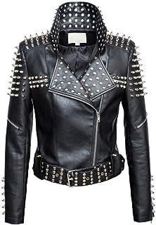 pretty nice ba4b3 ce8d3 Amazon.it: giacca di pelle donna borchie: Abbigliamento