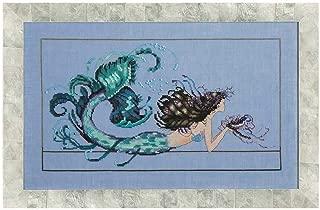 Mirabilia Designs Mermaid Undine AIDA Kit Beaded Counted Cross Stitch by Nora Corbett MD134 (Bundle: Chart, Fabric, Beads, Silk Floss)