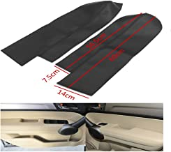 Kandas 2pcs Leather Front Door Panels Armrest Cover Fits Honda CR-V CRV 2007-2012 Black