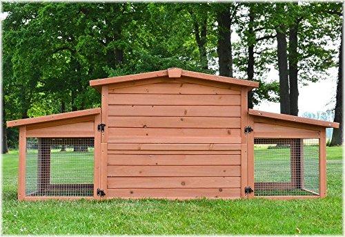 Zooprimus Kaninchenstall 47 Hasenkäfig – KÖNIGSSTALL – Stall für Außenbereich (für Kleintiere: Hasen, Kaninchen, Meerschweinchen usw.) - 4