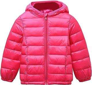 Happy Cherry Baby Boys Girls Hooded Coat Winter Lightweight Down Jacket Packable Cotton Coat