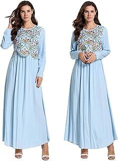 Muslim Women Cotton Embroidery Abaya Long Sleeve Maxi Dress Robes Kaftan Dubai Arab Draped Design Gown Dress Autumn Fashion New