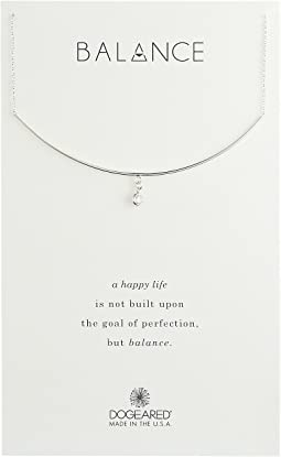 Dogeared - Balance, Delicate Bar w/ Bezel Crystal Necklace