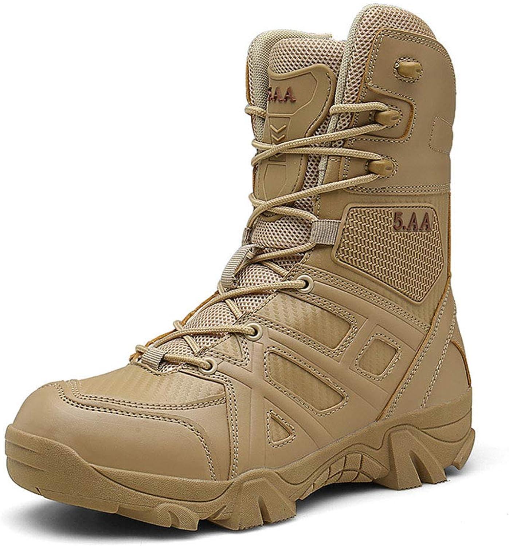 Men's Boots, Fall Winter Top Martin Boots Desert Tooling Boots Outdoor Trekking Hiking shoes,A,43